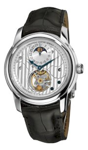 Frederique Constant Men's FC-935CDG4H6 Heart Beat Moonphase Silver Open Dial Watch