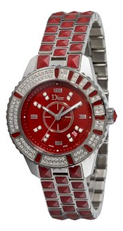 Christian Dior Women's CD11311HM001 Christal Diamond Red Dial Watch