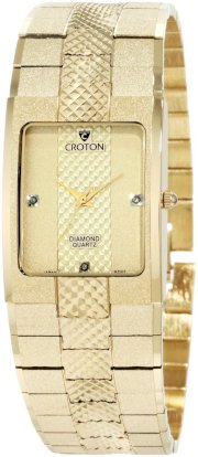 Croton Men's CN307293YLCD Japan Quartz Goldtone Diamond Marker Watch