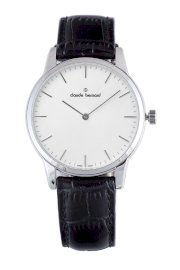 Đồng hồ đeo tay Claude Bernard Men's 20078 3 AIN Classic Gents Silver Dial Leather Watch