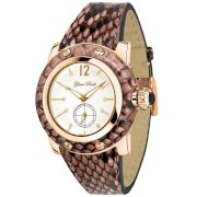 Glam Rock Women's GR40032 Palm Beach Collection Diamond Accented Pink Python Watch