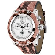 Glam Rock Women's GR10177 Miami Collection Chronograph Pink Python Watch