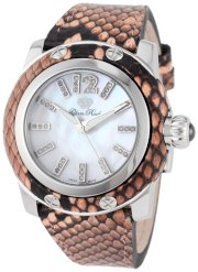 Glam Rock Women's GR40031-CORAL Palm Beach Diamond Accented Coral Python Watch