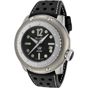 Glam Rock Men's GRD90202 Race Track Automatic Black Dial Black Leather Watch