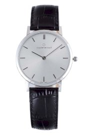 Đồng hồ đeo tay Claude Bernard Men's 20061 3 AIN Classic Gents - Slim Line Silver Dial Black Leather Watch