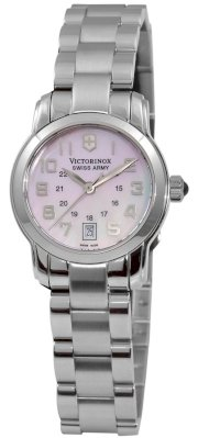 Victorinox Swiss Army, Silver Stainless Band Pink Dial - Women's Watch 241056