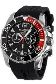 Haurex Italy Men's 3A354UNR Caimano Chronograph Rotating Bezel Sub-Second Rubber Divers Watch