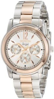 Invicta Women's 11736 Angel Silver Dial Two Tone Stainless Steel Watch