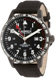 Haurex Italy Men's 8N300UN1 Red Arrow Black Canvas Tachometer Watch