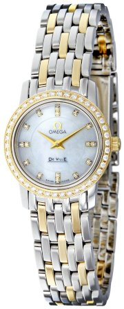 Omega Women's 4375.75 White Mother-Of-Pearl Dial DeVille Prestige Watch