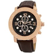 """JBW-Just Bling Men's JB-6116L-G """"Tazo"""" 18K Rose Gold-Plated Chronograph Genuine Leather Watch"""