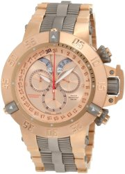 Invicta Men's 1569 Subaqua Noma III Chronograph 18k Rose Gold Ion-Plated Stainless Steel With Titanium Trim Watch
