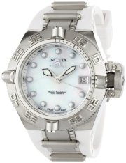 Invicta Women's 0539 Subaqua Noma IV Collection Stainless Steel and White Polyurethane Watch