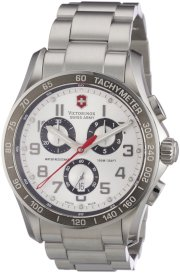 Victorinox Swiss Army Men's 241445 Chrono Classic Silver Chronograph Dial Watch