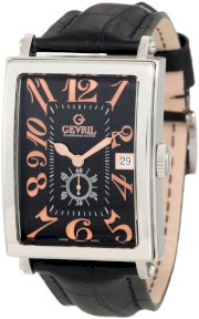 Gevril Men's 5046A Avenue of America Swiss Handcrafted Rose-Gold Sub-Second Leather Watch