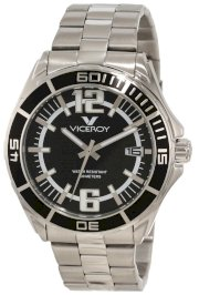 Viceroy Men's 40353-55 Black Dial Stainless Steel Date Watch
