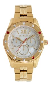 Ted Baker Women's TE4067 Quality Time Single Case Construction Gold Tone Watch