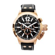 TW Steel Men's CE1024 CEO Canteen Black Leather Chronograph Dial Watch
