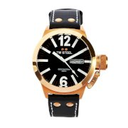 TW Steel Men's CE1021 CEO Canteen Black Leather Dial Watch