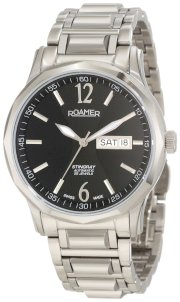 Roamer of Switzerland Men's 413637 41 54 40 Stingray Automatic Black Dial Steel Day and Date Watch