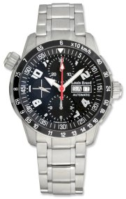 Louis Erard La Sportive Automatic Chronograph Steel Mens Sport Watch Calendar Day/Date 78420-AS-02BMA15