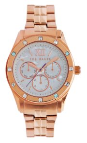Ted Baker Women's TE4068 Quality Time Single Case Construction Rose Gold Watch