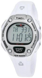 Timex Women's T5K5159J Sport Ironman White and Silver Mid Size 30 Lap Watch