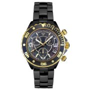 Swiss Legend Men's SL-30050-BKBGR Karamica Collection Chronograph Black Ceramic Watch