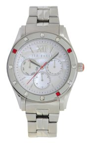 Ted Baker Women's TE4066 Quality Time Single Case Construction MOP Dial Watch