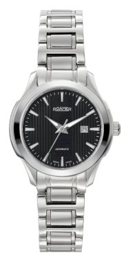 Roamer of Switzerland Women's 716561 41 55 70 Mechaline EOS Automatic Stainless Steel Black Dial Date Watch