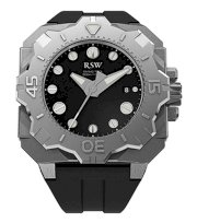 RSW Men's 7050.MS.R1.1.00 Diving Tool Black Dial Rotating Bezel Water Resistant Rubber Watch