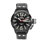 TW Steel Men's CE1031 CEO Canteen Black Leather Dial Watch
