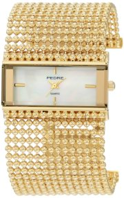 Pedre Women's 5155GX Gold-Tone Ball Chain Bracelet Watch