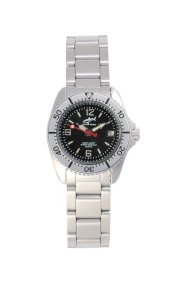 Chris Benz One Lady Black - Silver MB Wristwatch for Her Diving Watch