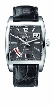 Eterna Watches Men's 7720.41.53.1231 Madison Grey Leather Date Watch