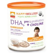 Bột ăn dặm Happy Bellies Organic Baby Cereals with DHA + Pre & Probiotics