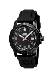 Wenger 79014 Sport 3 Swiss Military Watch, PVD, Rubber, Black