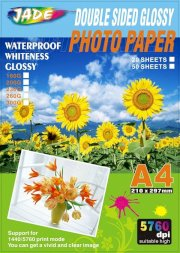 Jade Photo Paper Double side Glossy photo paper A4 5760dpi 140g 50 Sheets