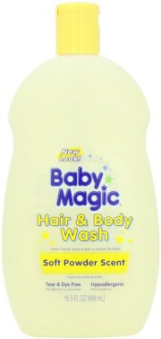 Tắm gội cho bé Baby Magic Hair and Body Wash, Soft Powder Scent, 16.5 Ounce Bottles