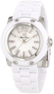 Glam Rock Women's GRD40006 Palm Beach Diamond Accented White Polycarbonate Watch