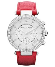Michael Kors Watch, Women's Chronograph Parker Pink Leather Strap 39mm MK2278