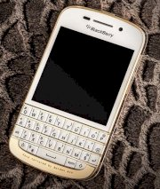 Golden Ace BlackBerry Q10 White 24K Full Gold