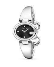 Gucci Women's YA134501 Guccissima Fashion Bangle Black Dial Watch