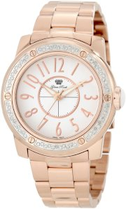 Glam Rock Women's GR50009D Aqua Rock Diamond Accented White Dial Rose Gold Ion-Plated Stainless Steel Watch