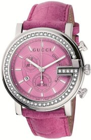 Gucci Women's YA101313 G-Chrono Pink Crocodile Strap Watch