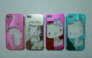 Ốp lưng mèo Kitty trong suốt cho iphone 4 / iphone 4S VO15