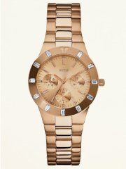 Guess Women's Feminine High-Shine Sport Mid-Size Watch