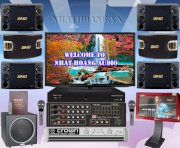 Dàn karaoke California PRO 568E+ Polk Audio PSW125 + KTV HDD 2000GB