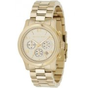 Michael Kors Midsized Chronograph Gold Tone Womens Watch Mk0012