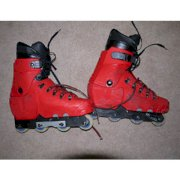 Oxygen Scott Bentley Pro AR 1.1 Mens USA 30.0/12 Red Aggressive Inline Skates